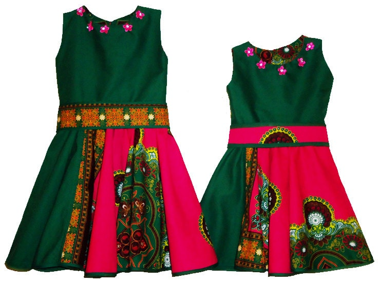 Multi colored dresses for girls