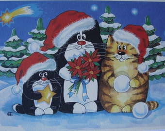 Christmas Cat Cards-Christmas greeting cards with Cats-Limited edition-Blank Inside