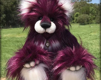Make your own faux fur jointed artist bear - Boysenberry KIT by Emma's Bears