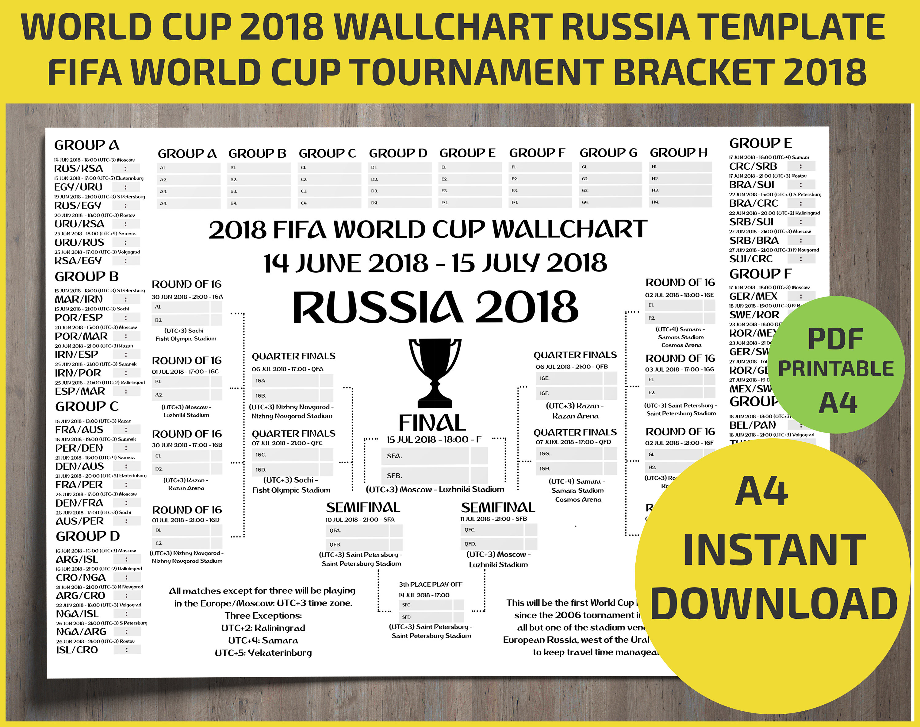 World Cup 2018 Schedule Utc
