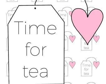 Digital Download - Time for Tea stickers