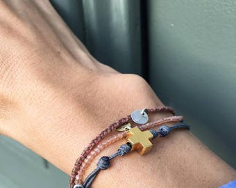 "Pulsera Cruz mini ""Hope"""