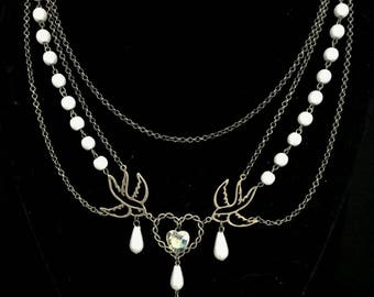 Still and Storm Necklace Macabre Gothic Victorian Steampunk Nautical Maritime