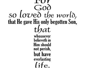Christian saying svg Cross svg John 3:16 svg Holy Bible svg Christian svg Religion svg Church svg Cut file SVG digital download