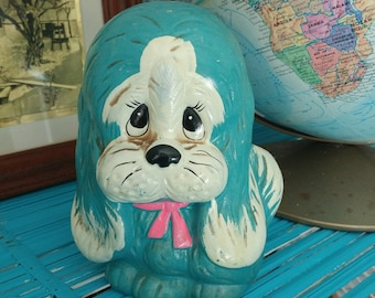 Vintage Sad Eyes Made in Japan Puppy Pennybank