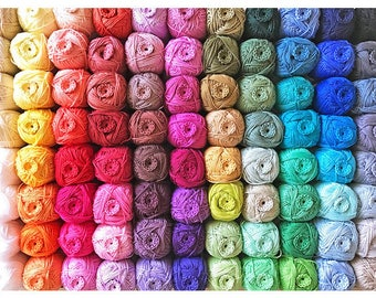 Choose any 24 colours you like Cotton Yarn Ready to ship by CrochetObjet