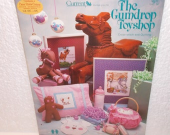 The Gumdrop Toyshop BOOK Cross Stitch and Quilting by Current , The Vanessa Ann Collection, 1984