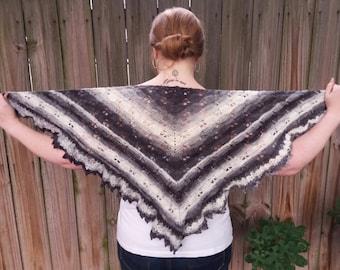 Mohair Shawl Wrap - Winter Wedding Shawl - Crochet Triangle Shawl - Crochet Shoulder Wrap - Evening Wrap for Women - Crochet Luxury Shawl