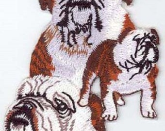Embroidered ENGLISH BULLDOG Dog Breed Iron-on/Sew on Patch Badge Applique DIY