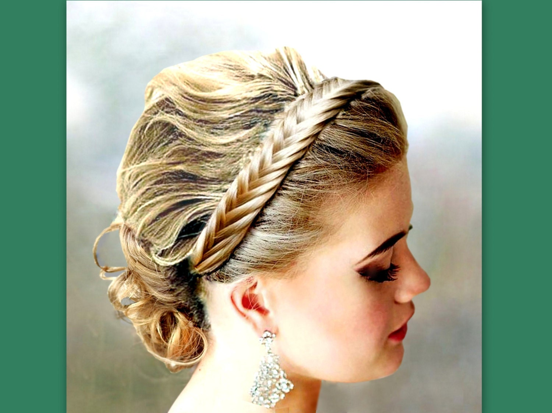 fishtail herringbone braid hair braided headband elastic
