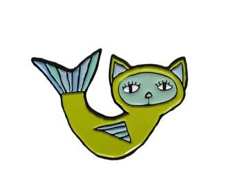 Soft Enamel Cat Pin - Purrmaid Pin - Cat Mermaid Pin