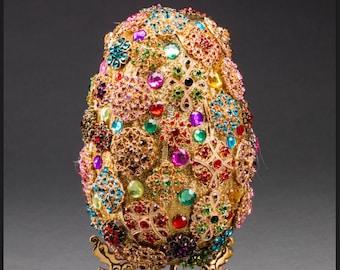 Faberge style jeweled egg
