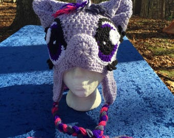 Twilight Sparkle My Little Pony crocheted hat for tweens/teens/adults