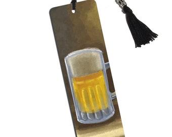 German Beer Mug Printed Bookmark With Tassel