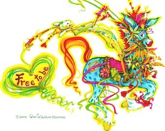 Free To Be - 11x14 print
