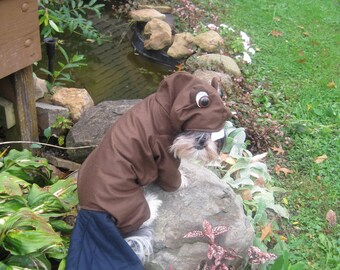 Custom/made to order Beaver dog costume for your xsmall-medium size dog
