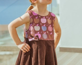 Hille dress PDF sewing pattern 110-152 (5-12yr) / INSTANT DOWNLOAD