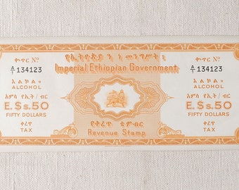 Haile Selassie lion of Judah Ethiopian alcohol revenue stamp  Ethiopian revenue stamp , Ethiopian collectible art