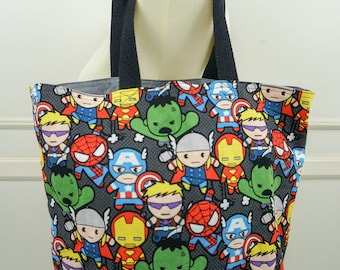Kawaii Avengers Reusable Bag/Reusable Tote