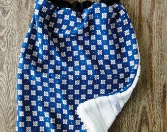 Elastic towel canteen - printed China Blue