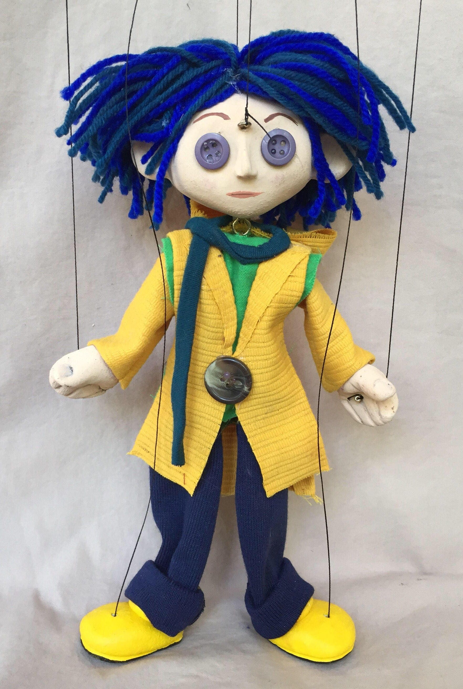 Coraline button eyes. From Tim Burton Film. Handmade