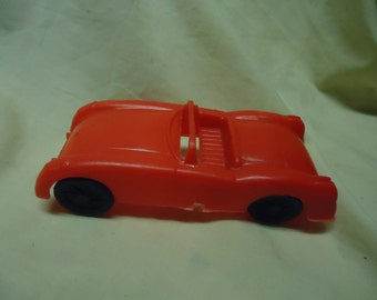 Vintage Plastic Red Toy Sports Car, collectable