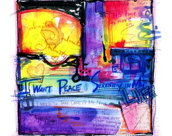 Painted Prayer No. 7 ...  art archival Spiritual print from original painting by Kathy Morton Stanion EBSQ