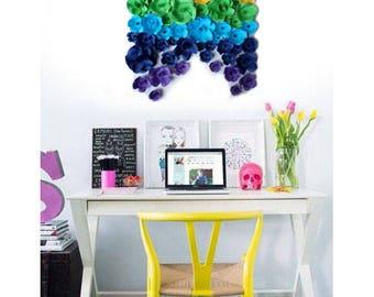 Table flowers Rainbow Paper