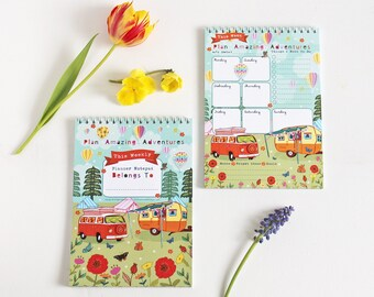 Weekly Planner - Plan Amazing Adventures -  Weekly Journal - To Do List - Weekly Desk Planner - Notepad - Holiday Planner -
