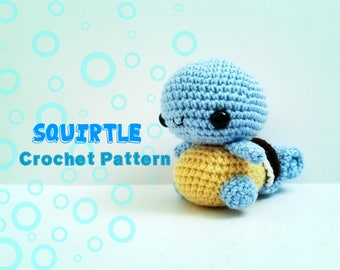 Squirtle Crochet Pattern - Pattern Only