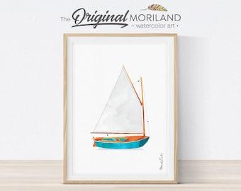 Boat Print, Sail Boat Print, Transportation Wall Art, Play Room Wall Decor, Nursery Wall Art, Nursery Nautical Art, Yacht, Instant Download