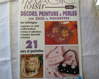 paper beads and rhinestones on bags and pouches, paper craft, sewing book