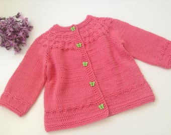 Knitted baby cardigan / girls cardigan