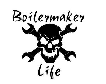 Boilermaker Life decal / boilermaker / Guy gift