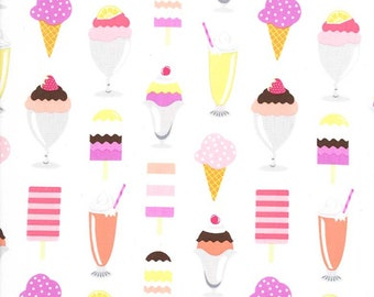 Michael Miller Ice Cream You Scream Sherbert Ice Cream Scoops fabric - 1 yard