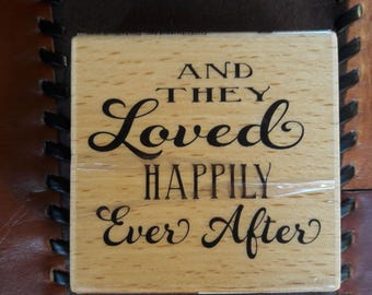 And They Loved Happily Ever After Wood Mounted Rubber Stamp Scrapbooking & Paper Craft Supplies
