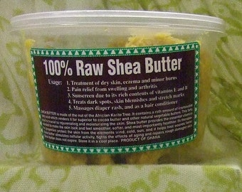 Raw Shea Butter - 100% Natural,   --- 8.5 oz. in Weight ---