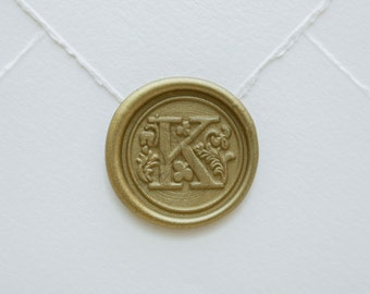 K Letter Wax Seal | Initial Wax Seal Stamp