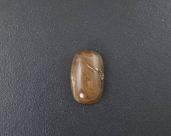 Petrified Wood Cabochon, 24mm x 15mm, brown and white, hand cut cab, cabochon, large stone, large cab, large cabochon, petrified wood