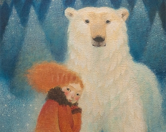 """Limited edition giclée print of original painting by Lucy Campbell - """"Thursday's bear"""""""