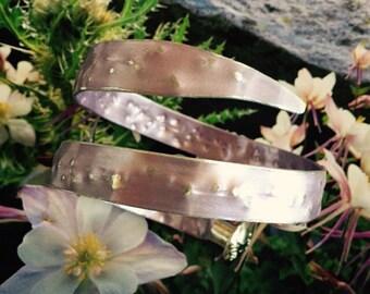 "Item 18: Lilac size 11 Vintage  14"" knitting needle bracelet"