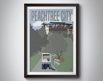 Peachtree City | Travel Poster | Instant Download