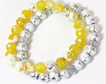 "7.25 "" Stretch Bracelet Set 