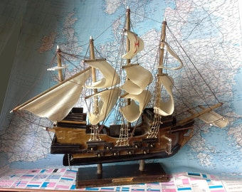 Vintage Model Ship, Spanish Galleon