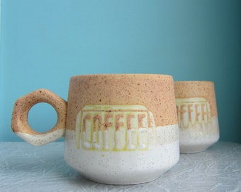 Mod Coffee Cups  Mugs