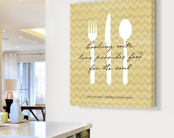 Kitchen Art Kitchen Decor Gift for Mom Housewarming Gift Inspirational Food Large Wall Art Gift For Her Custom Quote Print Personalized