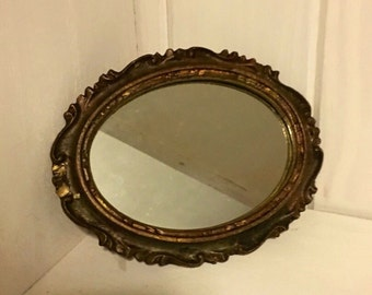 Small Oval Mirror / Gold Mirror