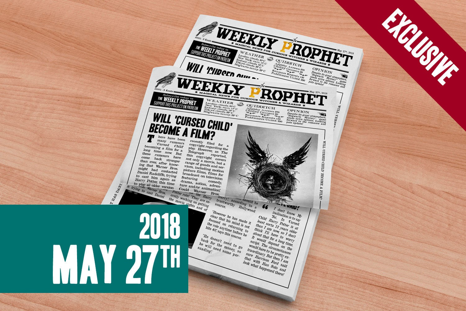Printable Daily Prophet Covers Harry Potter By Geeksdragons