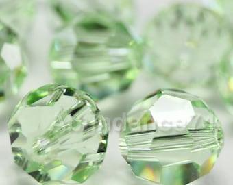 12 pcs Swarovski Elements - Swarovski Crystal Beads 5000 8mm Round Ball Beads - Chrysolite