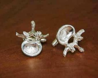 Vertebrae Anatomical Cufflinks in Sterling Silver